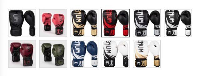 venum gloves color